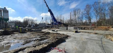Výstavba betonárny TBG v České Lípě